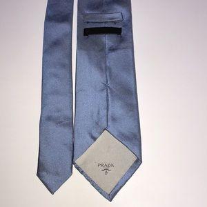 Prada baby blue tie designer Italy